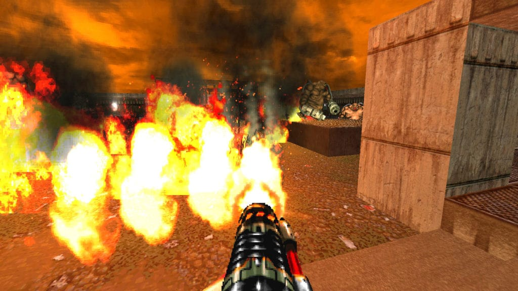 brutal doom flamethrower