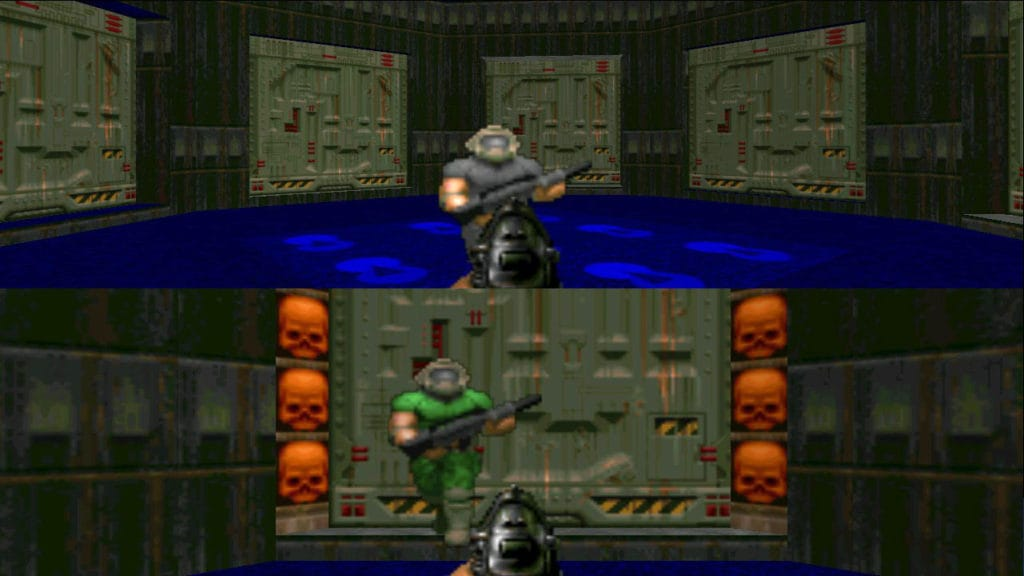 doom 2 map08 splitscreen