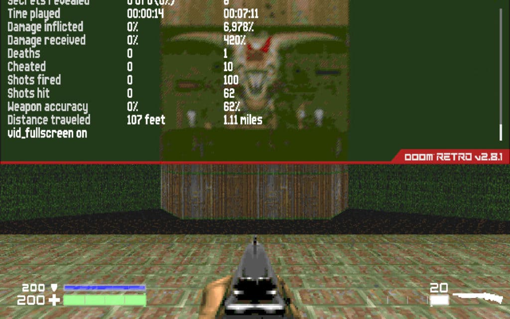 doom retro player stats