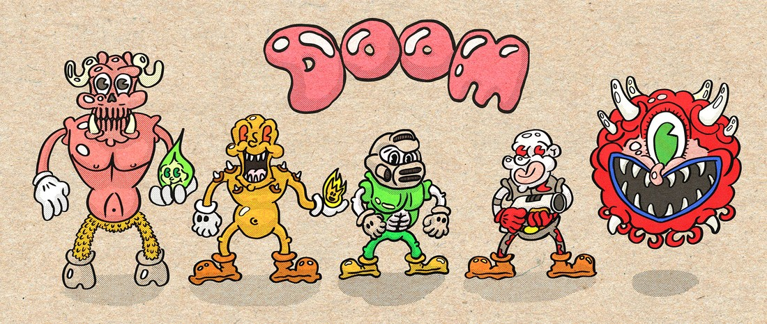 doom cartoon