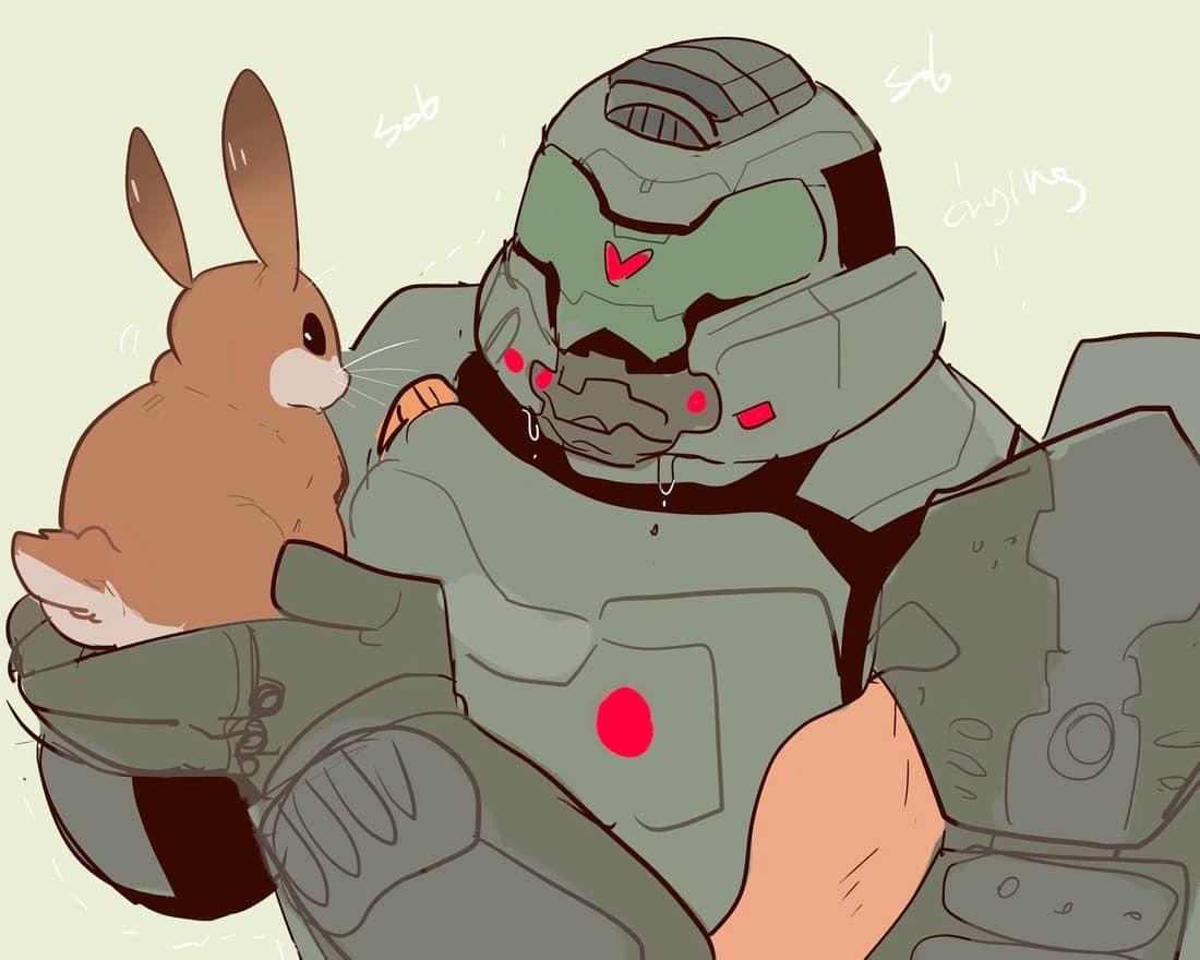 doomslayer bunny