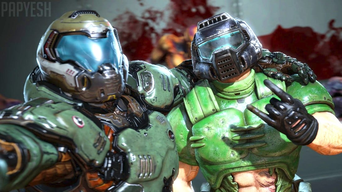 doomslayer and doomguy
